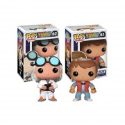 Set 2 piezas volver al futuro marty mcfly dr emmet Funko pop back to the future INLUYE BOLSA POP PARA REGALO