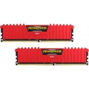 Memorija Corsair 16 GB PC-24000, CMK16GX4M2B3000C15R Vengeance LPX red, DDR4 3000MHz, 2x8GB kit