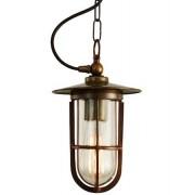 Mullan Lighting Asmara glass taklampa – Antique brass, clear glass