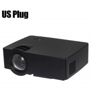 Proyector E08 LCD 1500 Lumens 800x480 1080P Home Theater With Airplay Miracast US PLUG-Negro