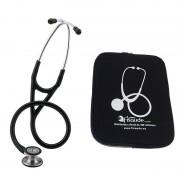 Fonendoscopio Littmann Cardiology IV (cores disponíveis) + Presente de funda protetora acolchada