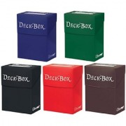 Set of Five New Ultra-Pro Deck Boxes (Dark Colors Incl. Black Blue Brown Green and Red) For Magic/Pokemon/YuGiOh Cards
