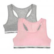 Boxershorts Meisjes Bralette 2-pack Roze & Grijs