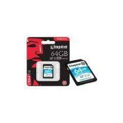 Cartao De Memoria Classe 10 Kingston Sdg/64GB Sdxc 64GB 90R/45W Uhs-I U3 V30 Canvas Go