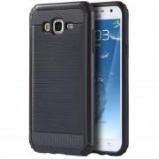Funda Case para Samsung Galaxy J7 Doble Protector Uso Rudo de Plastico con Aspecto Metalico-Negro