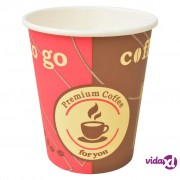 vidaXL 1000 kom Jednokratne Papirnate Šalice za Kavu 240 ml