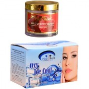 Pink Root Oxy Ice Cool Bleach 250gm and Pink Root Wild Cherry Scrub 100gm