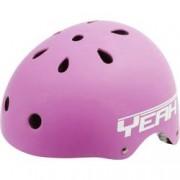 Conrad Dětská helma Konfekční velikost: L, Obvod hlavy=58-61 cm, matná, růžová 731488