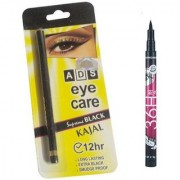 ADS Eye care Kajal with Sketch Pen Eyeliner (Set of 2)