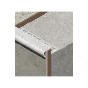 Protectie rotunjita pentru trepte ceramice din aluminiu eloxat 10 mm argintiu LRA105.81