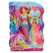 Barbie papusa Sirena Curcubeu care lumineaza DHC40