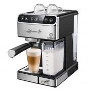 Espressor semi-automat Samus Lattissimo, 20 bari, 1.8 L, Rezervor lapte 0.5 L, Functie Capuccino, Functie Latte, Funcție de curățare, Dispozitiv spumare, Cafea măcinată/PAD-uri ESE, Negru/Inox