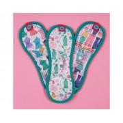 BLOOM et NORA Lot de 3 serviettes hygiéniques lavables Bloom - Boudoir Maxi