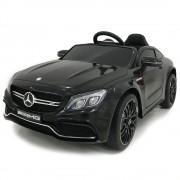Masinuta electrica cu roti din cauciuc si deschidere usi Mercedes Benz C63s Black