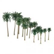 Generic 15pcs Multi Gauge Model Coconut Palm Trees HO O N Z Scale Scenery