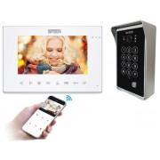 """Domovní bezsluchátkový videotelefon 5Tech 86714/84213 7"""", přesměrování hovorů, nahrávání, fotografování, CCTV, monitorování, RFID"""