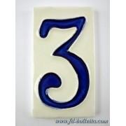 Numero civico ceramica piccolo nc303