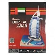 AsianHobbyCrafts 3D Puzzle World's Greatest Architecture Series :Burj Al Arab : Model Size -25cm x 20cm x 31cm