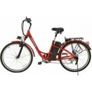 Bicicleta electrica 250W 25km/h acumulator Li-Ion 36V/10Ah Tornado TRD 10 rosu