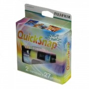 Fuji Quick Snap Aparat Foto pe Film de Unica Folosinta Color 35mm ISO 400 27 Expuneri Set 2 Aparate