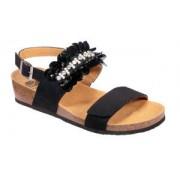 Dr.Scholl'S Div.Footwear Scarpa Chantal Sandal Microfibre W Black Tomaia In Microfibra+ornamento Petaloso Fodera In Microfibra Sottopiede In Microfibra Suola Eva 39