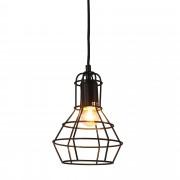[lux.pro]® Dekoratívna dizajnová design závesná lampa HT168060 - čierna (1 x E27)