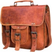 urban leather Men & Women Tan Messenger Bag