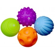 Set of 4 Sensory Balls - Textured Ball Set for Baby and Toddlers - Teether Ball Toys - Encourage Baby's Sensory Development by LASLU