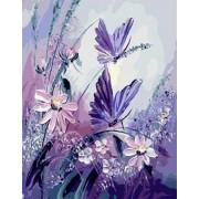 Gaira Malování podle čísel Fialoví motýli M1106