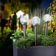 2 db Kerti napelemes LED északi sarkfény világítás 28 cm hideg fehér