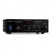 Auna Amp4 BT amplificador mini estéreo Bluetooth mando a distancia negro (AV6-Amp 4 BT)