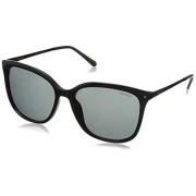 Polaroid Sunglasses Lentes oscuros, PLD4043S, Para mujer, negro, gris (Black Ruthenium/Gray Polarized), 57 mm