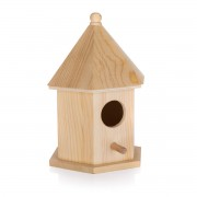 Căsuță păsări, din lemn, 12,5 x 10,5 x 17,7 cm