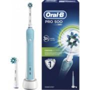 Periuta de dinti electrica Oral-B PRO 500 Cross Action 2 capete incluse reincarcabila 20000 pulsatii/min 8800 oscilatii/min curatare 3D 1