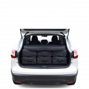 Car-Bags Nissan Qashqai (2013-heden) 6-Delige Reistassenset zwart