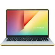 Ultrabook Asus VivoBook S15 Intel Core Whiskey Lake (8th Gen) i5-8265U 256GB SSD 8GB FullHD Tastatura ilum. Cititor amprenta Silver Yellow Bonus Rucsac Laptop Asus Argo