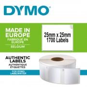 Etichete termice industriale DYMO LabelWriter Durable multifunctionale patrate 25mmx25mm polipropilena alba 1 rola cutie 1700 etichete rola 1933083