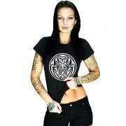 Wolf Tribal - Svart T-Shirt