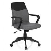 Hjh Silla de oficina COLONIAL, exclusivo diseño, base en metal, color gris