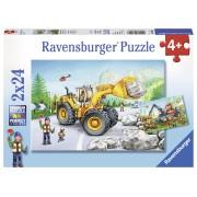 PUZZLE UTILAJE LA MUNCA, 2X24 PIESE - RAVENSBURGER (RVSPC07802)