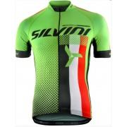 pentru bărbați ciclism jersey Silvini ECHIPA MD836 verde
