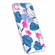 Husa Silicon Transparent Slim Tropical Blue 112 Apple iPhone 6 6S