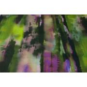 Tessuto Lino Astratto Glicine Verde