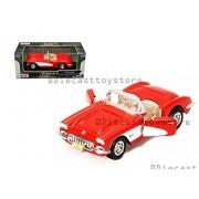 Motor MAX 1:24 W/B - American Classics - 1959 Chevrolet Corvette Convertible DIECAST Toy CAR 73216AC-RD