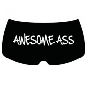 "Hipsters ""Awesome ass"" (Svart,S)"