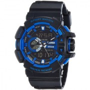 Mettle Skmei 1117 Multi Function With LED Black Strap Analog-Digital Sports Watch For Men's Boys.