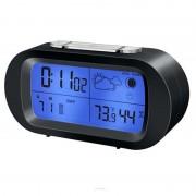 Ceas LCD cu statie meteo Bresser, Negru