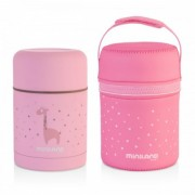 Termos mancare solida Silky Pink 600 ml Miniland Baby