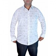 Sunshiny M size White Designer Shirt M Size White Shirts for Mens White polka dot shirts men 100 cotton checks
