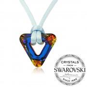 Silvego Silvego náhrdelník se Swarovski(R) Crystals Triangle Volcano - vsw046